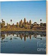 Angkor Wat At Sunset - Cambodia Wood Print