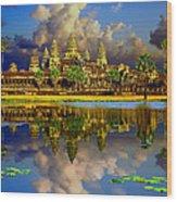 Angkor Wat Just Before Sunset Wood Print