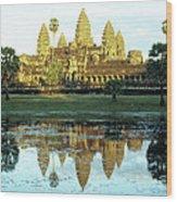 Angkor Wat Reflections 01 Wood Print