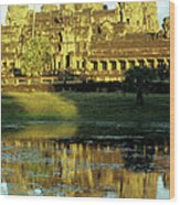 Angkor Wat Reflections 02 Wood Print