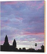 Angkor Wat Sunrise 02 Wood Print