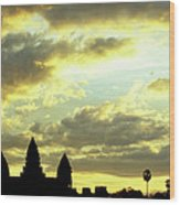 Angkor Wat Sunrise 03 Wood Print