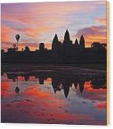 Angkor Wat Sunrise Wood Print