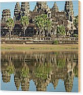 Angkor Wat Temple Complex (12th Century Wood Print