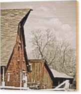 Angle Top Barn Wood Print