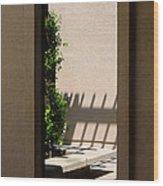 Angled Reflections Wood Print