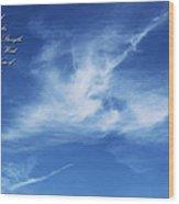 Angels In The Sky Wood Print
