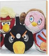Angry Birds  Wood Print