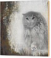 Angry Owl's Talons Wood Print
