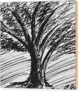 Angry Tree Wood Print