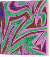Anguished Love V 4 Wood Print