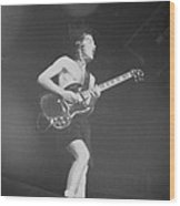 Angus Young Acdc Wood Print