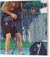 Angus Young Of A C D C At Day On The Green Monsters Of Rock Wood Print