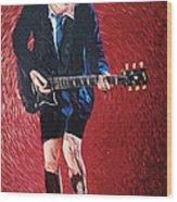Angus Young Wood Print