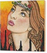 Anima Sola Wood Print