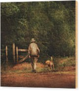 Animal - Dog - A Man And His Best Friend Wood Print