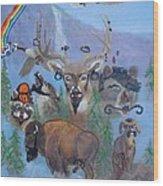 Animal Equality Wood Print