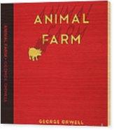 Animal Farm Book Cover Poster Art 2 Wood Print