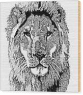 Animal Prints - Proud Lion - By Sharon Cummings Wood Print