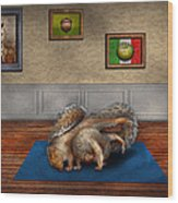 Animal - Squirrel - And Stretch Two Three Four Wood Print by Mike Savad