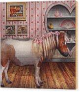 Animal - The Pony Wood Print by Mike Savad