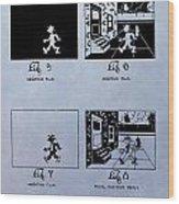 Animation Patent Wood Print
