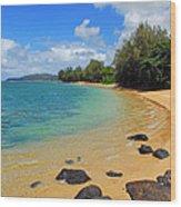Anini Beach Wood Print