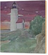 Anisquam Lighthouse Wood Print