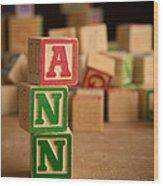 Ann - Alphabet Blocks Wood Print