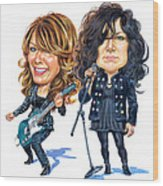 Ann And Nancy Wilson Of Heart Wood Print
