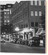Ann Arbor Black And White Wood Print