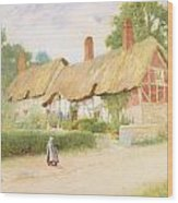 Ann Hathaway's Cottage Wood Print