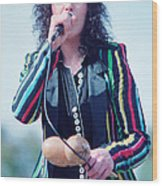 Ann Wilson Of Heart At 1981 Day On The Green In Oakland Ca Wood Print