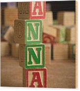 Anna - Alphabet Blocks Wood Print