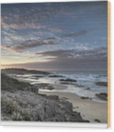 Anna Bay Sunrise Wood Print by Steve Caldwell