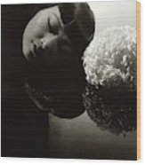 Anna May Wong Resting Her Head Wood Print