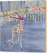 Annabelle On Ice Wood Print