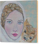 Annalina Litte Angel Of Graceful Light Wood Print by The Art With A Heart By Charlotte Phillips
