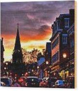 Annapolis Night Wood Print