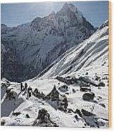 Annapurna Base Camp Wood Print