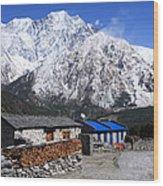 Annapurna Mountain View, Nepal Wood Print