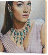 Anne Baxter In Ten Commandments  @ Ariesartist.com Wood Print