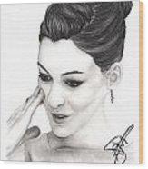 Anne Hathaway Wood Print