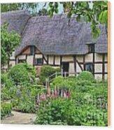 Anne Hathaways Cottage 5975 Wood Print