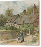 Anne Hathaway's Cottage At Shottery Wood Print