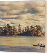 Anne Lacys Hamlin Lake Wood Print by Lianne Schneider and Anne Lacy