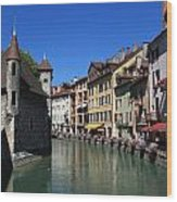 Annecy And Le Thiou Wood Print
