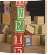 Annie - Alphabet Blocks Wood Print
