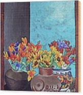 Annie's Flowers Wood Print