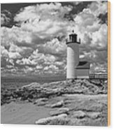 Annisquam Lighthouse Infrared Wood Print